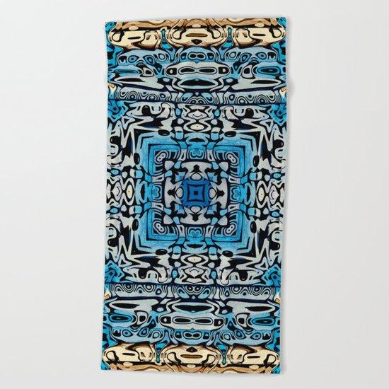 Tribal Hieroglyphics Beach Towel