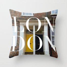 London Sights Throw Pillow