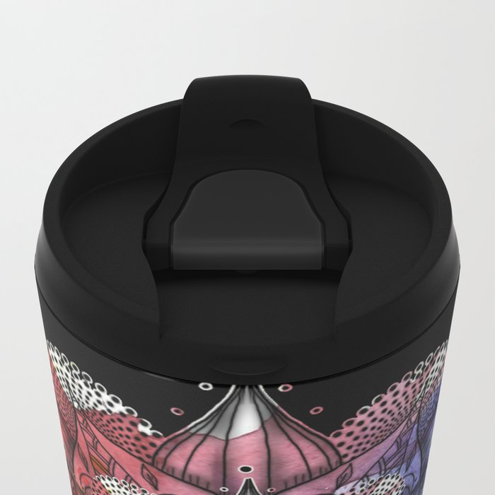 Floral Mandala Metal Travel Mug