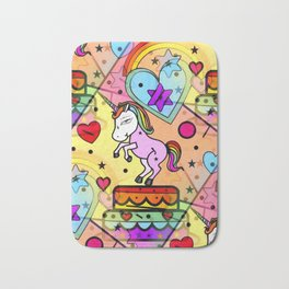 Unicorn Popart by Nico Bielow Bath Mat