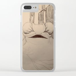 Frog and City Clear iPhone Case