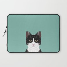 Quinn - Cute black and white cat tuxedo cat gifts for cat lady gift ideas cell phone case with cat Laptop Sleeve