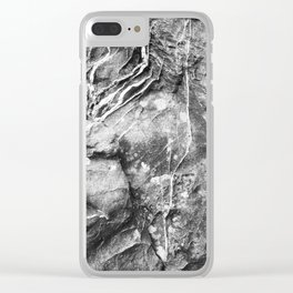 Scarred Stone Clear iPhone Case