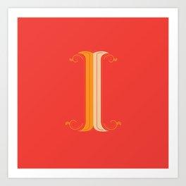 Letter I - 36 Days of Type Art Print