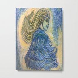 Aliferous: Freya in feathered cloak Metal Print