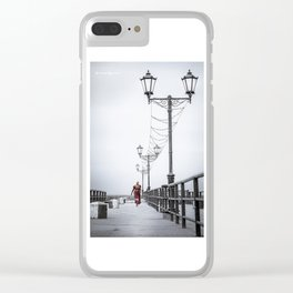 Long back on the bridge Clear iPhone Case