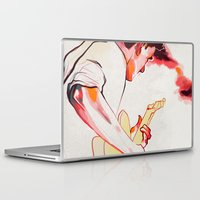 guitar Laptop & iPad Skins featuring Guitar by tidlin