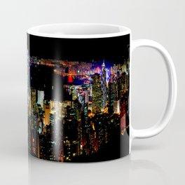 Hong Kong City Skyine Black Night Coffee Mug