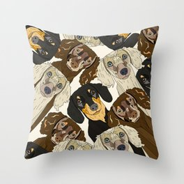 Doxie Nation Throw Pillow