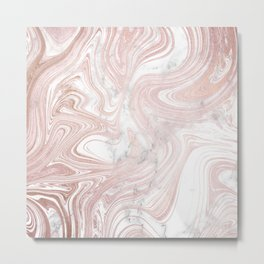 Rose Gold Wind Metal Print