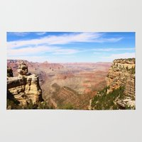 pacific rim Area & Throw Rugs featuring South Rim Grand Canyon by Christiane W. Schulze Art and Photograph