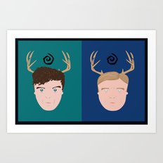 Rust & Marty from True Detective Art Print