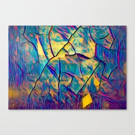 Bright Color HeavyTexture Abstract Canvas Print