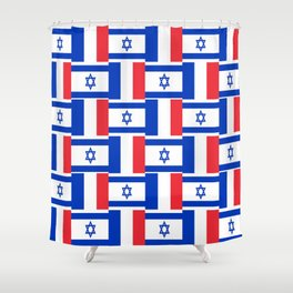 Mix of flag: france and israel Shower Curtain