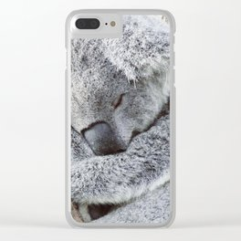 Sleeping Koala Clear iPhone Case