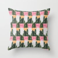 cactus Throw Pillows featuring cactus by Grace