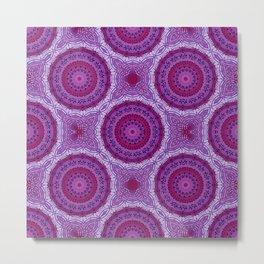Circles in Purple Metal Print