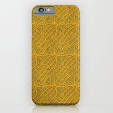 Yellow Lines Knit iPhone 6s Slim Case