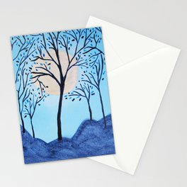 Blue Asian Tree Stationery Cards