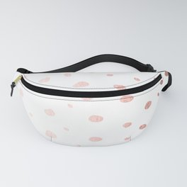 Rose Gold Pink Polka Dots on White Fanny Pack