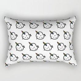 CUTE NARWHAL PATTERN - RAINBOW HORN Rectangular Pillow