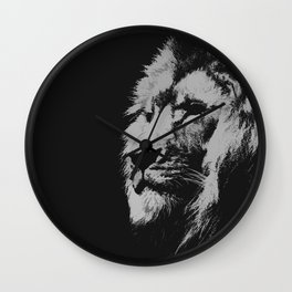 Lion king black and white Wall Clock