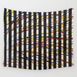 Mondrian And Pollack Had A Baby Wall Tapestry