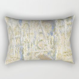 Rouen Cathedral West Facade Sunlight Rectangular Pillow
