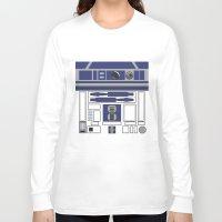 starwars Long Sleeve T-shirts featuring R2D2 - Starwars by Alex Patterson AKA frigopie76