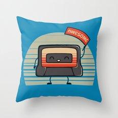 Cute Mix Tape Throw Pillow