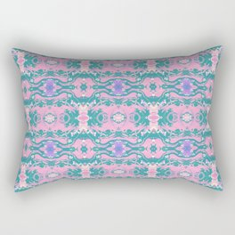 TEAL AND PEACH MARBLE Rectangular Pillow