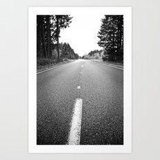 down the road.  Art Print