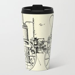 Firemans Steam Fire-Engine Patent Print - 1875 Travel Mug