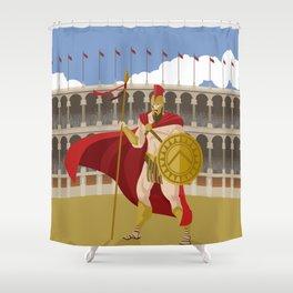 great spartan gladiator Shower Curtain