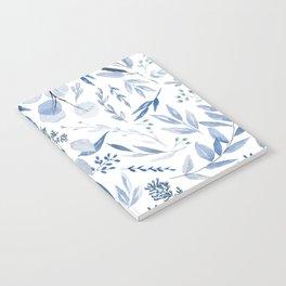 Eucalyptus Pattern - Blue Notebook