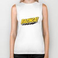 bazinga Biker Tanks featuring The Big Bang Theory - Bazinga  by Bastien13