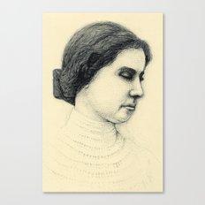 Hellen Keller in ink Canvas Print