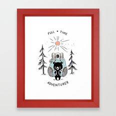 Adventure Bear Framed Art Print