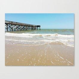Turquoise Pier Canvas Print