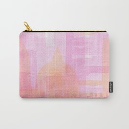 Pink and golden city watercolor Carry-All Pouch