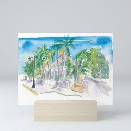 Conch Houses on Whitehead Street Key West Mini Art Print