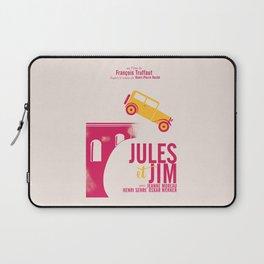 Jules et Jim, François Truffaut, minimal movie Poster, Jeanne Moreau, french film, nouvelle vague Laptop Sleeve