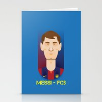messi Stationery Cards featuring Messi Barcelona by Sport_Designs
