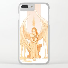 Burning Thoughts Clear iPhone Case