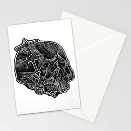 InsanitynArt's Skull Logo. Stationery Cards