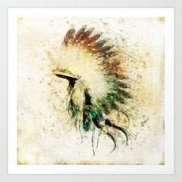 Native American Boho Headdress Sideview Kunstdrucke