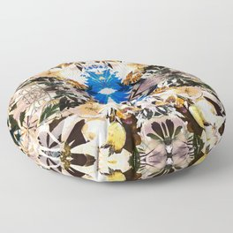 Painted dry pressed flowers Floor Pillow
