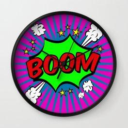 Boom Pink Boom Wall Clock