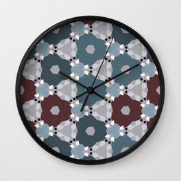 Kaleidoscope Flowers Winternight Wall Clock