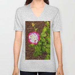 Floral Print 038 Unisex V-Neck